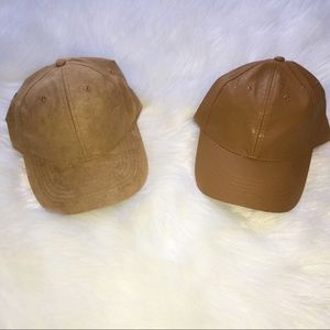 Accessories - NEW Women's faux suede faux leather baseball caps